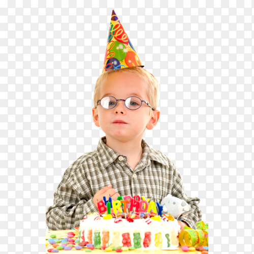 Boy Celebrating Birthday PNG