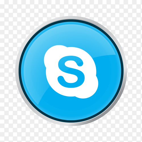 Button Skype PNG