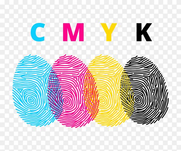 CMYK color print vector PNG