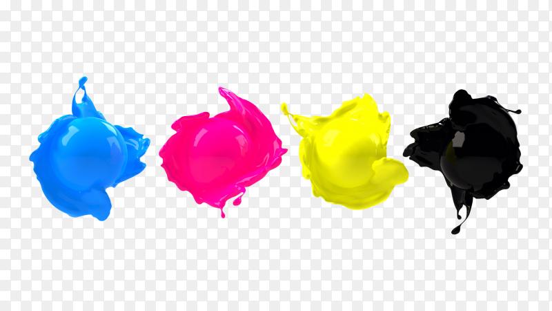 CMYK ink PNG