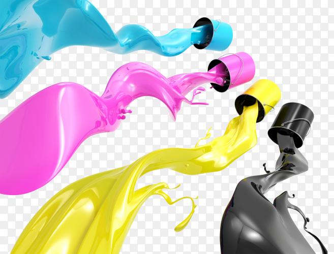 CMYK ink drops PNG