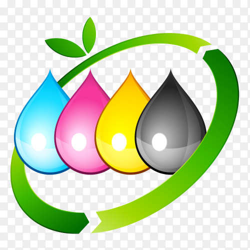 CMYK ink eco-friendly PNG