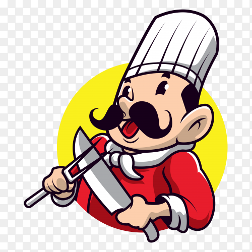 Chef cartoon vector PNG