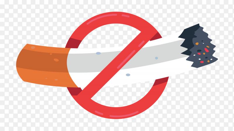 Cigarette prohibition symbol vector PNG