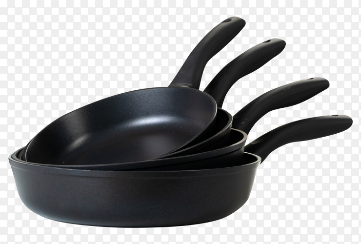 Clean and dry cooking pans transparent PNG