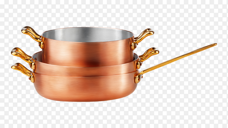 Clean and shiny copper pot PNG