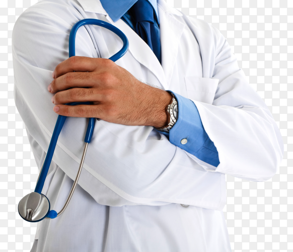Close-up of a doctor transparent background PNG