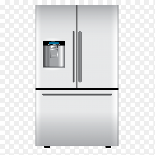 Closed refrigerators – fridge illustration vector PNG