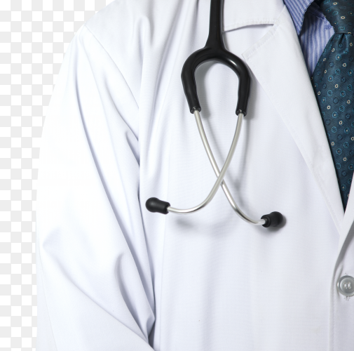 Doctor holding stethoscope transparent PNG