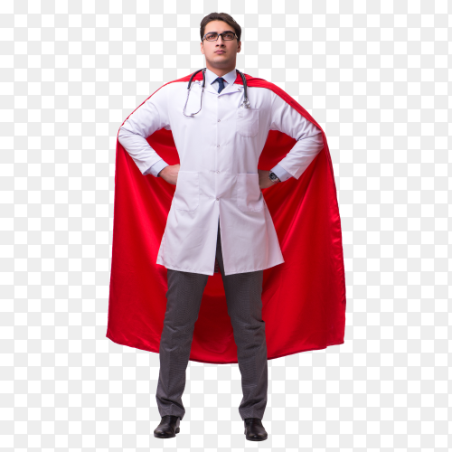 Doctor super hero Premium transparent PNG