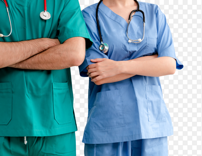 Doctor working in hospital transparent PNG