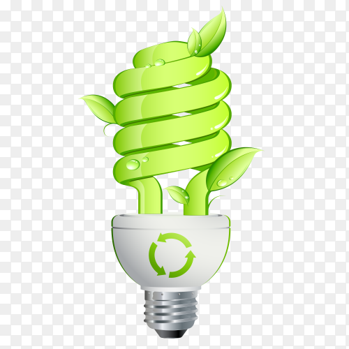 Eco light bulb Free Vector PNG