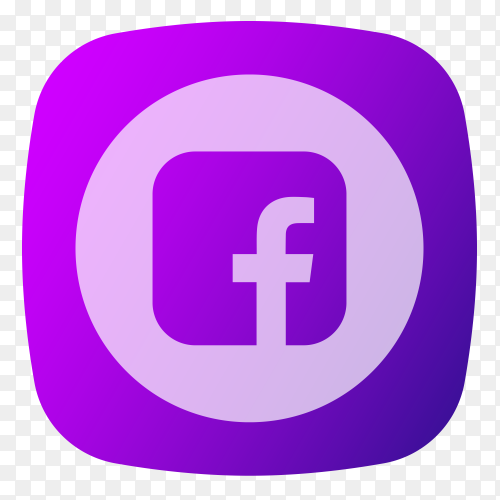 Facebook logo purple PNG