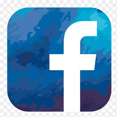 Facebook logo watercolor PNG