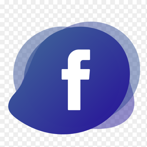 Facebook logo with liquid shape PNG