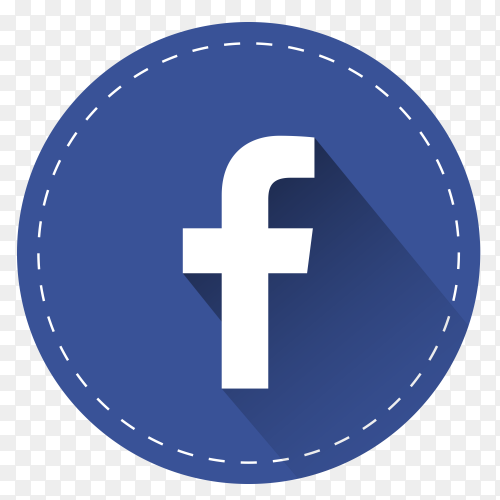 Facebook logo with shadow PNG