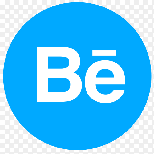 Flat logo Behance PNG