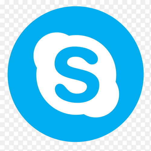 Flat logo Skype PNG