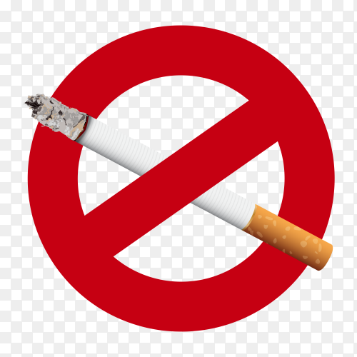 Forbidden no smoking red sign clipart PNG