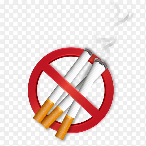 Forbidden symbol with cigarettes – no smoking free download PNG