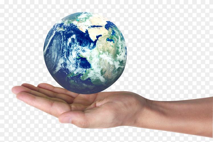 Globe, earth in human hand PNG