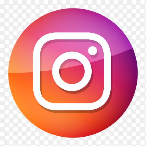 Glossy Instagram logo PNG