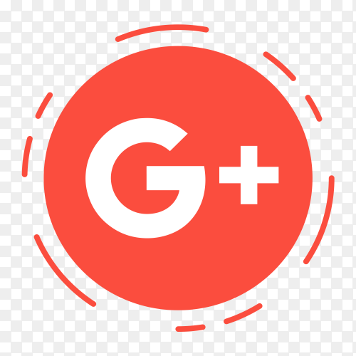 GooglePlus logo in dotted circle PNG