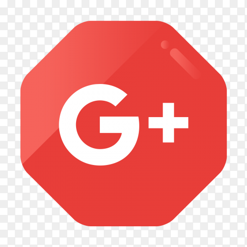 GooglePlus logo in gradient hexagonal PNG
