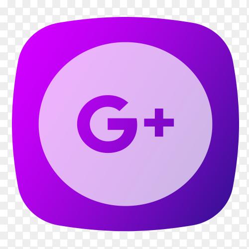 GooglePlus logo purple PNG
