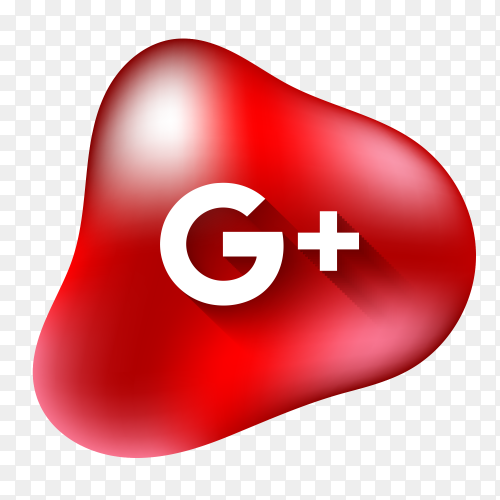 GooglePlus logo with fluid shape PNG