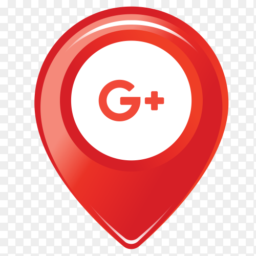 Googleplus logo in the location icon PNG