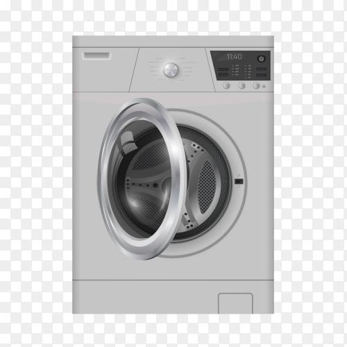 Gray washing machine vector PNG