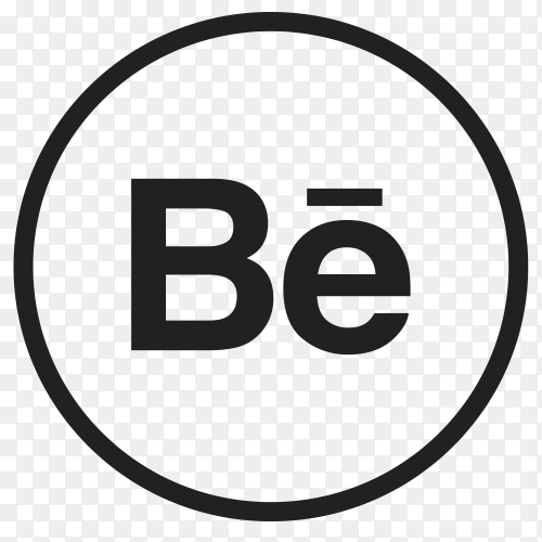 Icon Behance In circle PNG