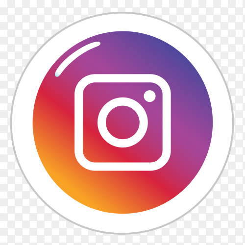Instagram logo in a circle social media icon PNG