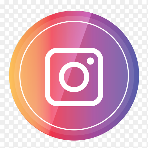 Instagram logo in a circle PNG