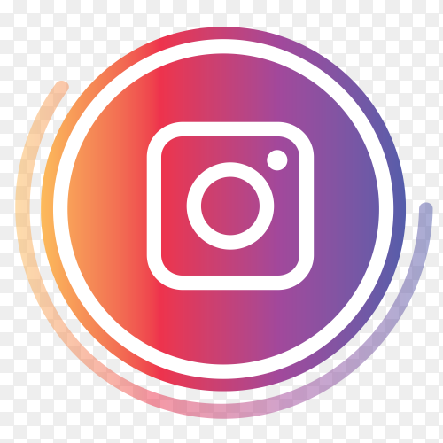 Instagram logo in circles PNG