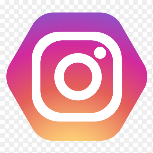 Instagram logo in hexagon PNG