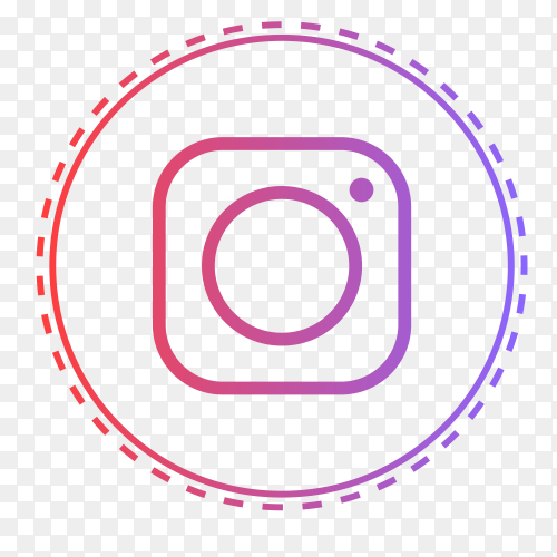 Instagram logo in points circle PNG