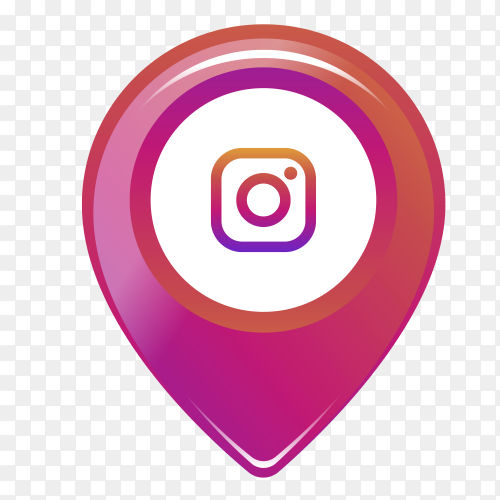 Instagram logo in the location icon PNG