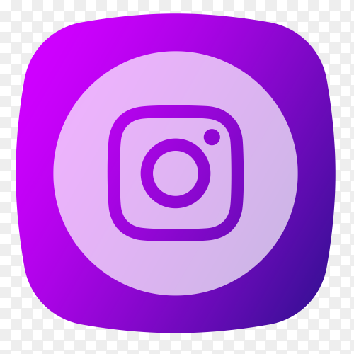 Instagram logo purple PNG