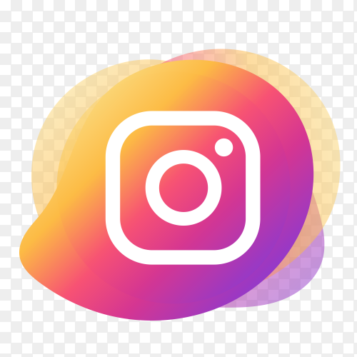 Instagram logo with liquid shape PNG