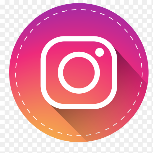 Instagram logo with shadow PNG