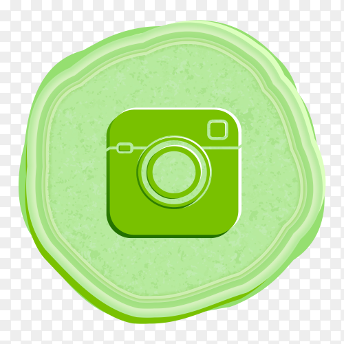 Instagram social network icon vintage style PNG