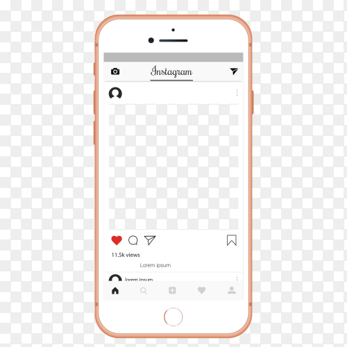 Instagram ui ux template layout Premium Vector PNG