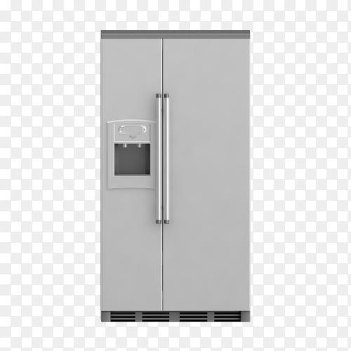 Isometric fridge 3d render PNG