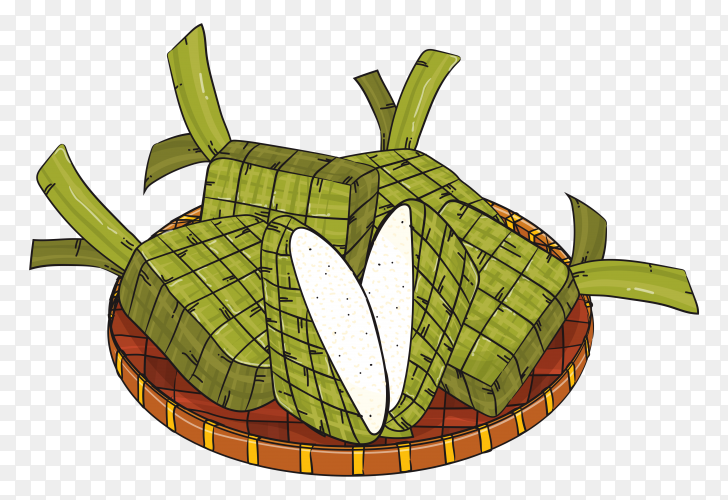 Ketupat food illustration Vector PNG