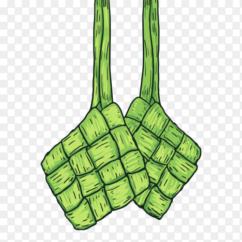 Ketupat food vector PNG