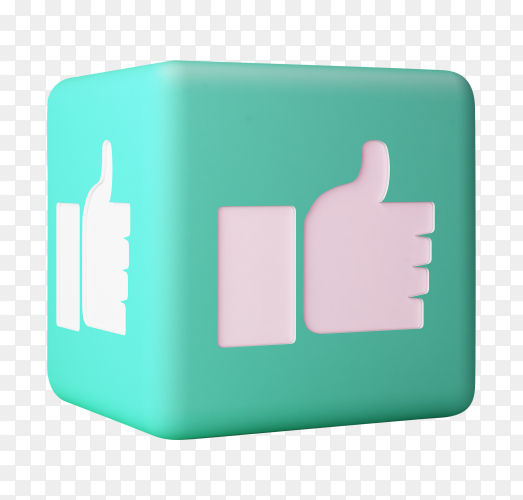 Like icon 3d box 3d rendering PNG