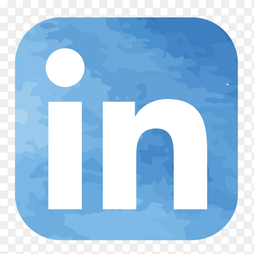Linkedin logo watercolor PNG