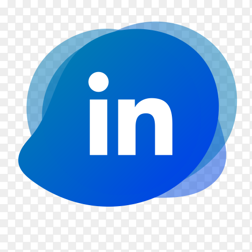 Linkedin logo with liquid shape PNG